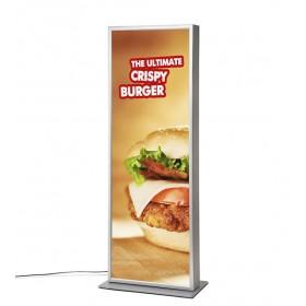 LED poster zuil met kliklijst - 2x A1 (59,4 x 168cm)