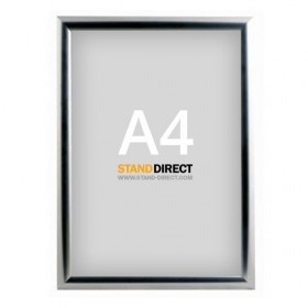 A4 Kliklijst chroom, 25mm profiel