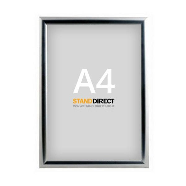 A4 Klapprahmen Chrom, 25mm Profil