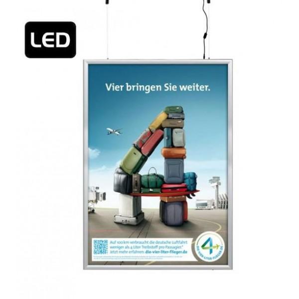 Verlichte LED lijst om op te hangen (dubbelzijdig)