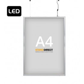 "LED-Leuchtrahmen ""Smart LED Box"", doppelseitig - A4"