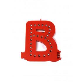 Leuchtende Buchstaben Rot - B