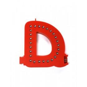 Leuchtende Buchstaben Rot - D