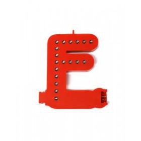 Leuchtende Buchstaben Rot - F