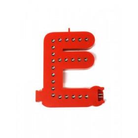 Leuchtende Buchstaben Rot - E