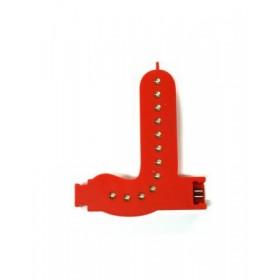 Leuchtende Buchstaben Rot - J