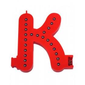 Leuchtende Buchstaben Rot - K