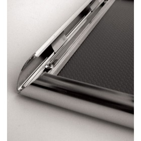 Cadre clic-clac chromé, onglet 25mm