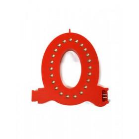 Leuchtende Buchstaben Rot - 0