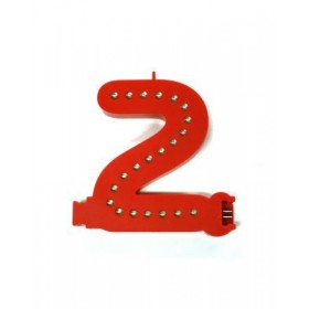 Leuchtende Buchstaben Rot - 2