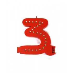 Leuchtende Buchstaben Rot - 3