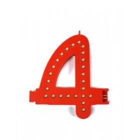 Leuchtende Buchstaben Rot - 4