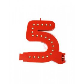 Leuchtende Buchstaben Rot - 5