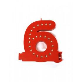 Leuchtende Buchstaben Rot - 6