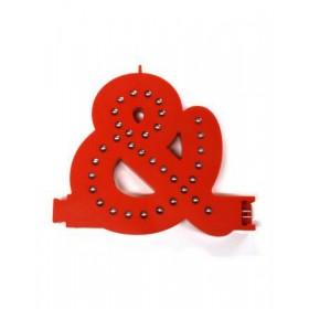 Leuchtende Buchstaben Rot - &