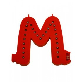 Lettres lumineuses rouges (Prix unitaire) - M