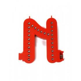 Leuchtende Buchstaben Rot - N