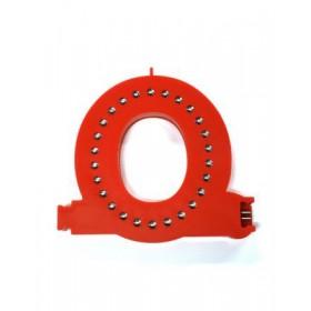 Leuchtende Buchstaben Rot - O