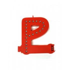 Leuchtende Buchstaben Rot - P
