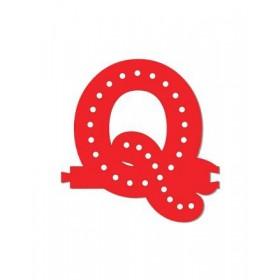Leuchtende Buchstaben Rot - Q