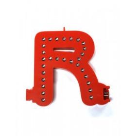 Leuchtende Buchstaben Rot - R