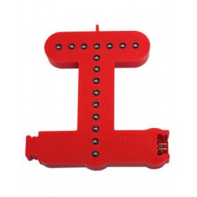 Leuchtende Buchstaben Rot - T