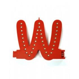 Leuchtende Buchstaben Rot - W