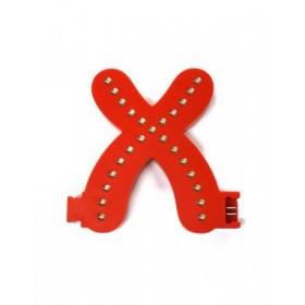 Lettres lumineuses rouges (Prix unitaire) - X