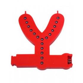 Leuchtende Buchstaben Rot - Y