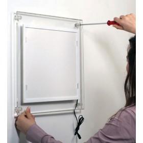 Acryl-LED-Rahmen für Wandmontage