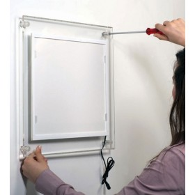 Frame met LED-verlichting, 12mm dik (A4, A3 of A2)