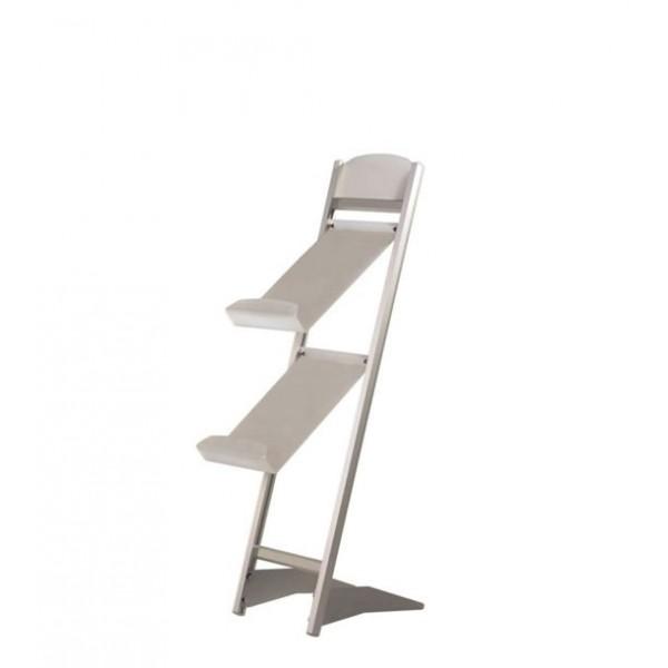 Porte-catalogues 2x A4 aluminium