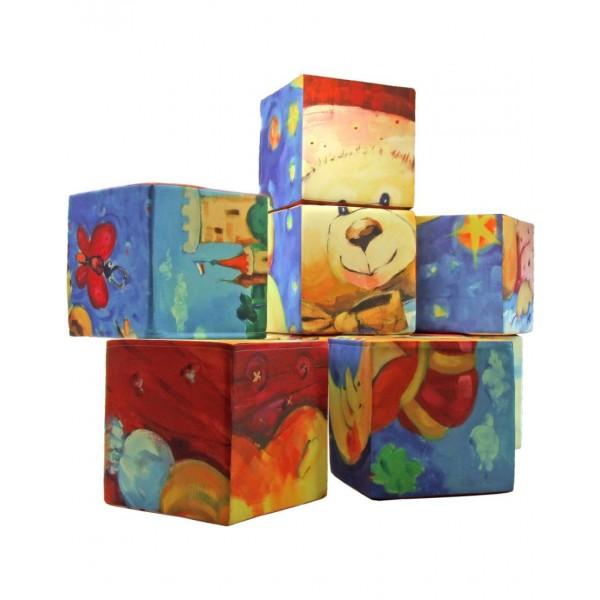 10 kubussen met eigen bedrukking