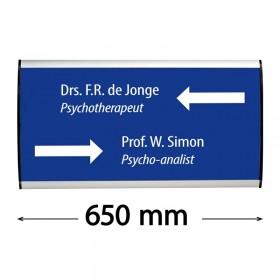 """Plaque signalétique """"Sign"""" - 148x650mm"""