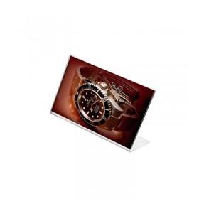 Présentoir de comptoir plexiglas - A5 (15 x 21cm) - Paysage