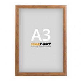 Cadre clic-clac, finition bois - A3 (29,7 x 42cm) - Bois