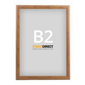 Klapprahmen Holzoptik - B2 (50 x 70,7cm) - Holz