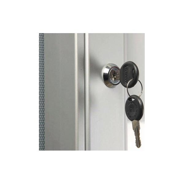 Presentatie bord met slot en sleutel