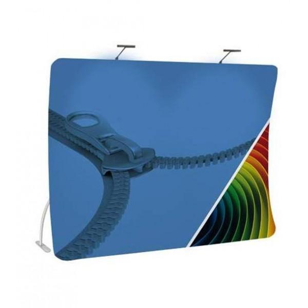 Stand courbe vertical - Tissu stretch et aluminium