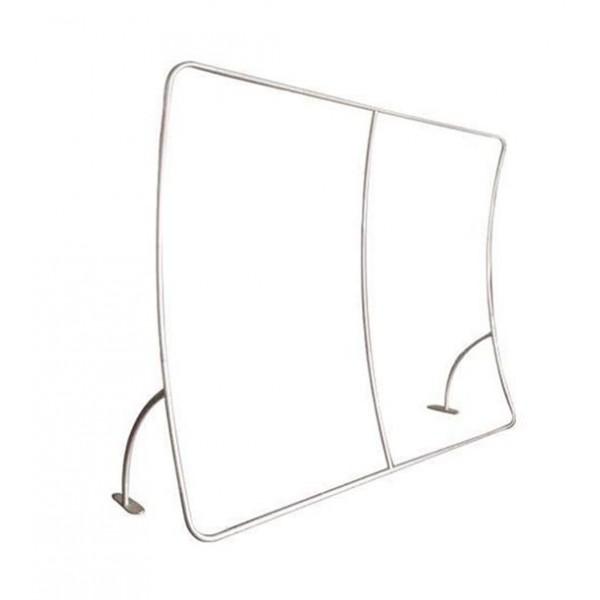 Stand courbe vertical - structure aluminium
