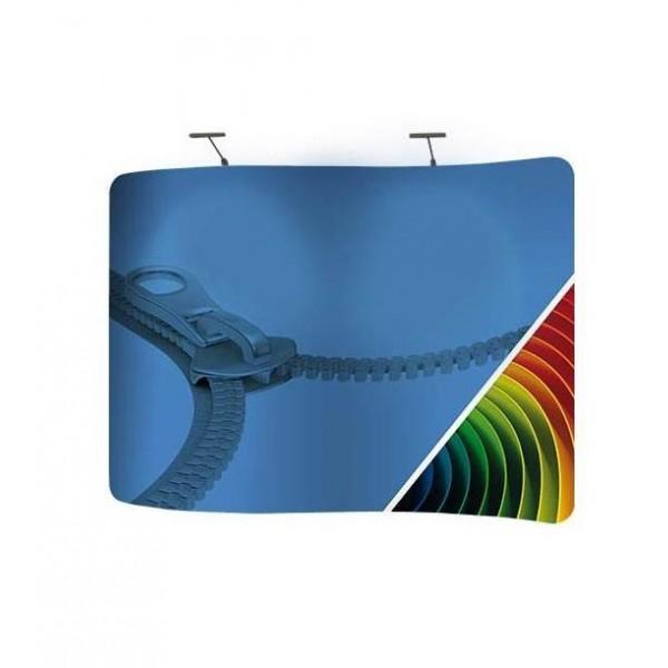 Fond de stand textile, sans raccords, en forme de vague (S)